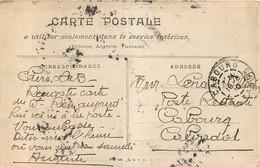 Cachet Timbre A Date CABOURG 1910 POSTE RESTANTE - 1877-1920: Periodo Semi Moderno