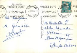 GRANVILLE 1950  FLAMME KRAG OBLITERATION MECANIQUE - Maschinenstempel (Werbestempel)