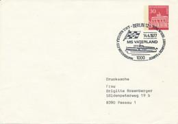 BERLIN 12 - 1977  ,   Brandenburger Tor  -   MS VATERLAND  -  Privatumschlag  PU 42 / 2 - Privatumschläge - Gebraucht