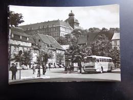 Bus + Auto, Voiture, Car / Weissenfels, Karl Marx Platz --> Unwritten - Passenger Cars
