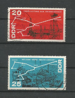 DDR 1966 Oil Pipeline Y.T. 918/919 (0) - Used Stamps