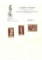 Lacaque, Graveur De Timbres .Dans Sa Pochette D'origine - Künstlerentwürfe