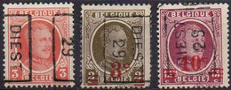 4598 B - 4764 B - 4805 A  DIEST 29 - Rollenmarken 1920-29