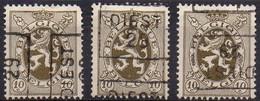 5131 A/C/D  DIEST 29 - Rollenmarken 1920-29