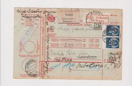 YUGOSLAVIA, SUBOTICA 1939   Parcel Card Returned - Lettres & Documents