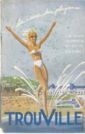 AO / Superbe GUIDE TOURISTIQUE TROUVILLE Casino 1948 Horaires Marées ABONNES NOMS 40 Pages !! - Tourism Brochures