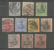 Germany Reich 1902 Year, Used Stamps, Mi # 68-77 - Used Stamps