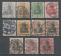Germany Reich 1905-15 Years, Used Stamps Mi # 83-93 - Used Stamps