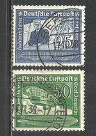 Germany Reich 1938 Year , Used Stamps Mi # 669-70 - Used Stamps