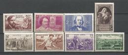 FRANCE ANNEE 1940 N°462 à 469 NEUFS** MNH TB COTE 63.50 € - Nuovi