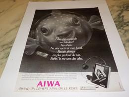 ANCIENNE PUBLICITE TELECOMMANDE SUR BALADEUR AIWA 1986 - Altri Apparecchi