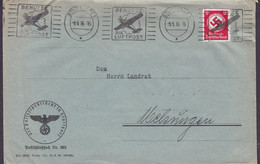 Deutsches Reich DER POLIZEIPRÄSIDENT IN ATUTTGART, Slogan 'Benutze Die Luftpost' STUTTGART 1936 Cover Brief Dienstmarke - Briefe U. Dokumente