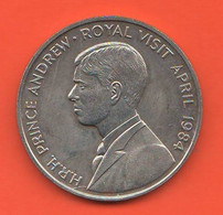 50 Pence 1984 Ascension Island Prince Andrew Royal Visit Nickel Coin British Administration - Ascension Island