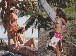 2 Cartes Jeunes Beautes Tahitiennes ( Seins Nues ) - French Polynesia