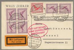 ZEPPELIN KASSEL FAHRT 1930 , Etappe Friedrichshafen - Kassel - Cartas