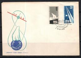 POLAND 1958 - International Geophysical Year - Cmpt Set - FDC - Internationaal Geofysisch Jaar