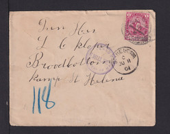 SANKT  HELENA - 1901 - Brief Aus Kap D.G.H. Ins Lager St. Helena - Zensur - Other