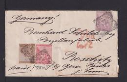 1886 - 3-Farbenfrankatur Auf Brief Ab KIMBERLEY Nach Deutschland - Cape Of Good Hope (1853-1904)