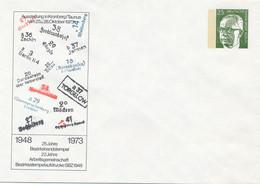BERLIN  -  Heinemann  -  25 Jahre Bezirkshandstempel   Ausstellung Kronberg  1973   -  Privatumschlag  PU 47 / 7 - Privatumschläge - Ungebraucht