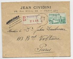 FRANCE N° 301 SEUL LETTRE REC PARIS 19.3.1936 AU TARIF 2EME - 1921-1960: Modern Tijdperk