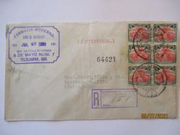 Mexico R-Brief 1936 Mit 6 Werte, Rote Verschlußmarke RS (67168) - Mexiko