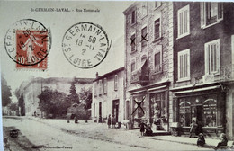 CPA  Saint-Germain-Laval (42) - Rue Nationale -  BE - Saint Germain Laval