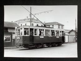 Photographie Originale De J.BAZIN : Tramways De CLERMONT-FERRAND : Gare  En 1953 - Treinen