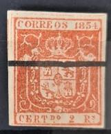 SPAIN 1854 - Canceled - Sc# 28a - 2R - Gebraucht