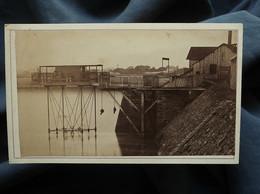 Photo CDV Gilbert Ainé à St Servan  St Malo Embarcadère Pont Roulant  CA 1875-80 - L559A - Antiche (ante 1900)