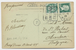 N°111+171 CATE DAGUIN CARRE VERTICAL VISITEZ BRAY LES DUNES ET SA PLAGE 13.8.25 NORD - Mechanical Postmarks (Advertisement)