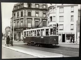 Photographie Originale De J.BAZIN : Tramways De CLERMONT-FERRAND : Place GAILLARD  En 1953 - Treinen