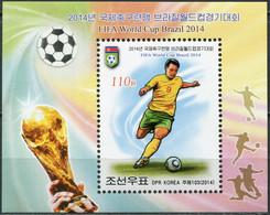 Korea 2014. FIFA World Cup Brazil 2014 (MNH OG) Souvenir Sheet - Korea (Nord-)