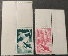 Poste Aérienne N° 16/17 Neuf ** Gomme D'Origine Avec Coin De Feuille  TTB - 1927-1959 Mint/hinged