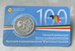 Belgie 2021   2 Euro Commemo In CC  Belgische - Luxemburgse Economische UNIE    Version Français   Livrable  !! - Belgium