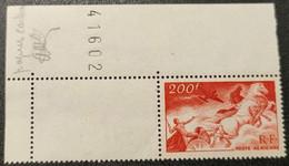 Poste Aérienne N° 19a (rge-sang Papier Carton) Neuf ** Gomme D'Origine Avec Coin De Feuille, RARE !!!  TTB - 1927-1959 Mint/hinged