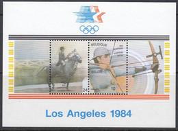 BELGIEN Block 54, Postfrisch **, Olympische Sommerspiele, Los Angeles, 1984 - Bloques 1962-....