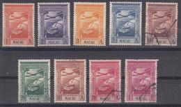 Portugal Macao Macau 1938 Airmail Mi#317-325 Mint/used Complete Set - Used Stamps