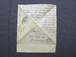 WWII SOVIET RUSSIA LATVIA 1944 WW2 FIELDPOST  WAR CENSORSHIP - Storia Postale