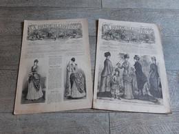 La Mode Illustrée 1879 Et 1886 2 Revues Gravures Toilettes De Soirée Lingerie Corset Pour Enfant Toilette Mariée - Moda