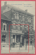 """Court-Saint-Etienne Belgique : Maison Legrève - Carte Publicitaire Commerce """" Mode Corsets Gants Fourrures Chapeaux .. """" - Court-Saint-Etienne"""