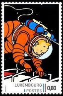 Timbre Privé** - Kuifje/Tintin - Milou/Bobbie - On A Marché Sur La Lune/Mannen Op De Maan/Männer Auf Dem Mond - 3 - Autres