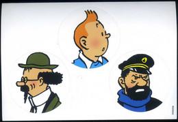 "HERGE 3 Autocollants Sur Un Même Support ""TIintin,Haddock,Tournesol"" Neuf ! - Unclassified"