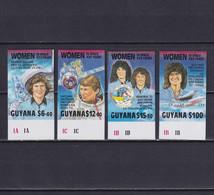 GUYANA 1989, Mi# 3049-3052, Imperf, Women In Space, MNH - Guyana (1966-...)