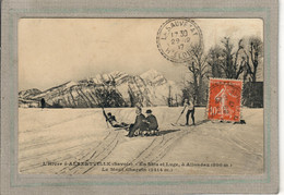 CPA - Environs D'ALBERTVILLE (73) ALLONDAZ- Sports D'hiver - Ski - Luge , En 1917 - Albertville