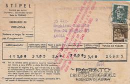 RSI - BOLLETTA STIPEL CON AFFRANCATURA IMPERIALE E MUNUMENTI DISTRUTTI 07.11.1944 -  A30 - Marcofilie