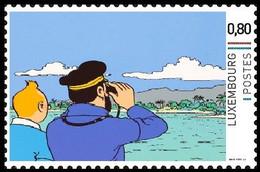 Timbre Privé** - Tintin - Milou/Bobbie - Haddock - Le Trésor De Rackham Le Rouge/De Schat Van Scharlaken Rackham - 2 - Cinéma