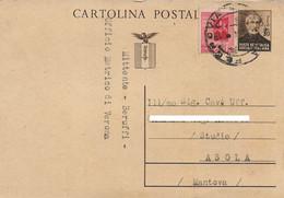 RSI - INTERO POSTALE 30c MAZZINI CON 20c MONUMETI DISTRUTTI 15.11.1944 - A34 - Marcofilie