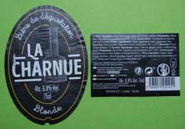 1  ETIQUETTE De BIERE   LA  CHARNUE - Bière