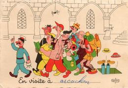 33 - CP - ARCACHON -  En Visite à Arcachon - Dessin De Dubout - Guide Et Touristes - 1966 - Cachet Arcachon - Verso - Arcachon