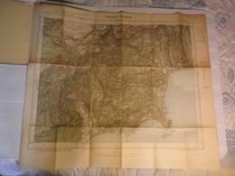 GRASSE CANNES -  XXXVI 43 - CARTE DE FRANCE TYPE 1922 - MINISTERE DE LA GUERRE - SERVICE GEOGRAPHIQUE DE L' ARMEE - 1933 - Mapas Geográficas
